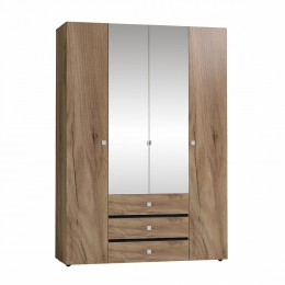 НЕО 555 (спальня) Шкаф для одежды и белья  дуб табачный крафт