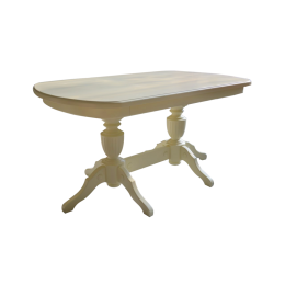 Стол обеденный Виол 1500(1900) слоновая кость МДФ
