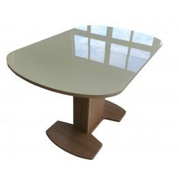 Стол обеденный раздвижной Корсика стек. 2 исп. (1200*800 (1500)) дуб выбеленный/стек. молочное