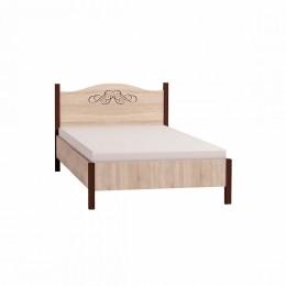 Адель 4 спальня Кровать 1200 б/о дуб сонома/орех шоколадный