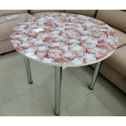 Стол обеденный круглый фотопечать (900)