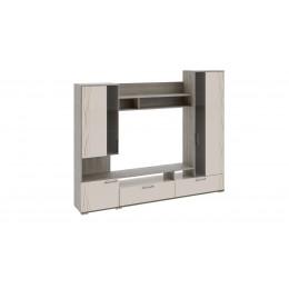 Хилтон набор мебели для общей комнаты (ПСП) (моод темный/белый глянец)
