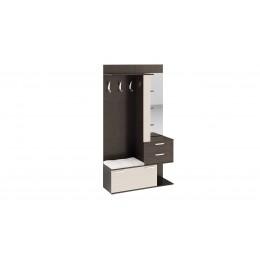 Эрика Набор мебели для прихожей секция комбинированная с крючками и зеркалом(венге цаво/дуб белфорт)
