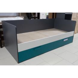 Спальня Кэнди Кровать ККР-1 графит/белый/океан