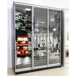 Шкаф купе Экспресс 1800*2200*600  венге с фотопечатью Ночной Лондон