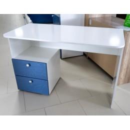 Абрис  ПМ-332.08  Стол письменный с ящиками  дуб адриатика синий/белый