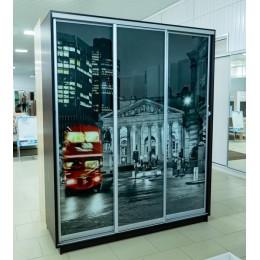 Шкаф купе Экспресс фотопечать ночной лондон 2200*1800*600 венге