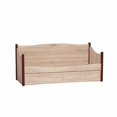 Адель 80 (молодежная) Кровать подростковая дуб сонома/орех шоколадный