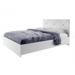 Спальня Ницца Кровать 1600 белый глянец/белый