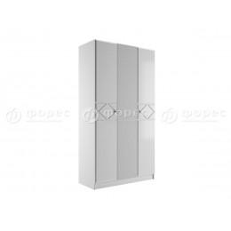 Спальня Ницца Шкаф 3-х ств. белый глянец/белый