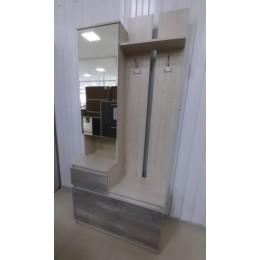 Прихожая Трио тумба с зеркалом 900*400*200 пикар/бетонпайн глянец
