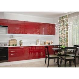 Кухня Люкс 3,0 рубин глянец