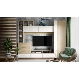 Набор мебели для общей комнаты Ненси дуб сонома/белый ясень