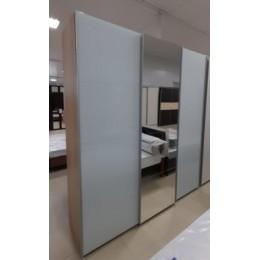 Шкаф-купе Прайм 2100*2300 сонома с ящиками (2 дв. стекло + 1 дв. зеркало)