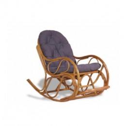 Кресло качалка коньячный