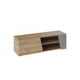 Клео Тумба ТВ  Набор мебели для общей комнаты дуб ривьера/моод темный
