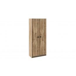 Пилигрим ТД-276.07.22 Шкаф для одежды дуб каньон светлый, фон серый
