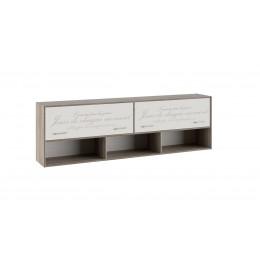 Брауни ТД-313.12.21 шкаф настенный (фон бежевый с рисунком/дуб сонома трюфель)