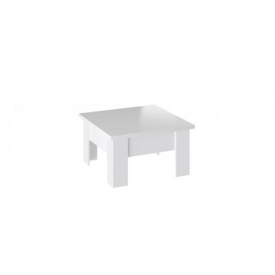 Glance Стол журнальный (трансформер) тип 1 белый/стекло белый глянец