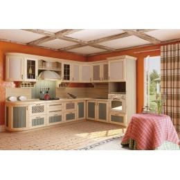 Кухня Кантри угловая сонома эйч светлая