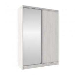 Шкаф-купе Домашний 1600 (зеркало/ЛДСП) ясень анкор светлый
