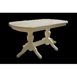Стол обеденный Виол 1500(1900)*900*760 на 2-х опорах белая эмаль ПСА 56.01.06.06
