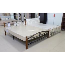 Кровать Румба (дерево гевея/металл 160/200 красный дуб/черный)