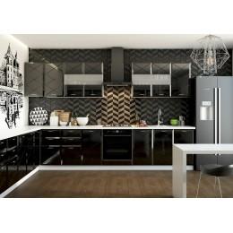 Кухня Бостон черный глянец 2,0м