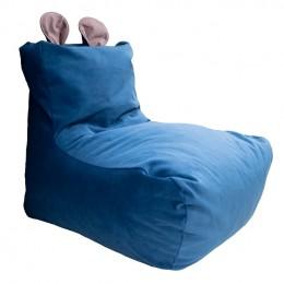 Kids Кресло-мешок тип 1 велюр пепельно-синий