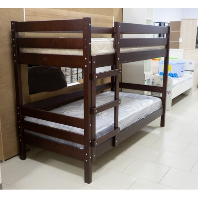 Кровать Джуниор 2-х ярус. 900/2000 орех на ламелях