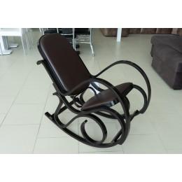 Кресло качалка дерево береза/экокожа