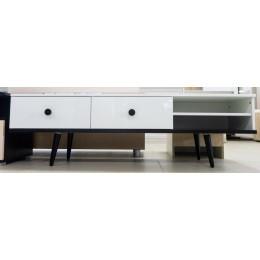 Тумба ТВ-1 Art design 1504*450*400 орех темный/белый глянец