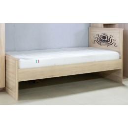 Боцман 1 Кровать 900  дуб сонома