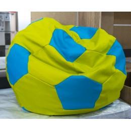 Бонн Кресло-мешок (рогожка нео, зеленый/голубой)