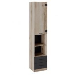 Окланд Шкаф комбинированный ТД-324.07.20 черный/дуб делано