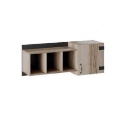Окланд Шкаф навесной ТД-324.15.11 черный/дуб делано