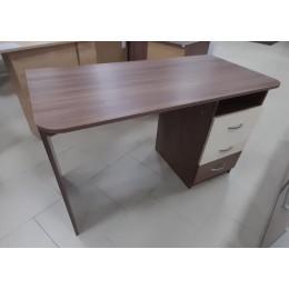 Стол компьютерный Галерея 1200*600*750 ясень шимо темный/крем