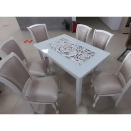 """Стол обеденный прямоугольный """"Ажурный 1100*700 белый"""