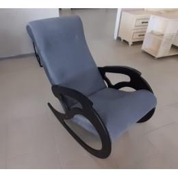 Кресло качалка Коник венге/форест 17  серый