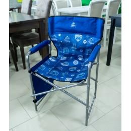 Кресло складное 2 (КС2) с карманами джинс синий