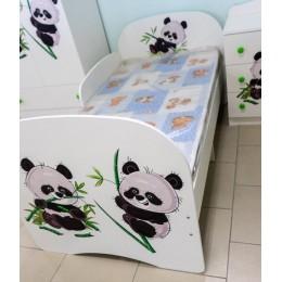 Спальня Сладкий Соня Кровать с ящиком и защитным бортиком 800*1600 ( Панда )