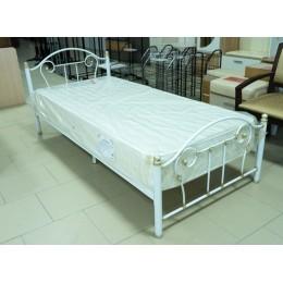 Кровать металлическая 90*200 белая с золотой патиной
