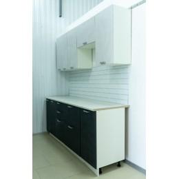 Кухня Гранита 2,0м бетон снежный/бетон графит