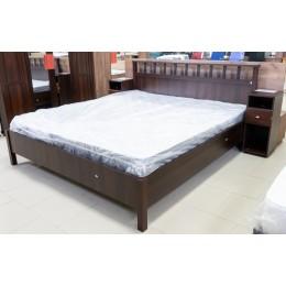 Шерлок 46 спальня Кровать Люкс 1800 б/о орех шоколадный
