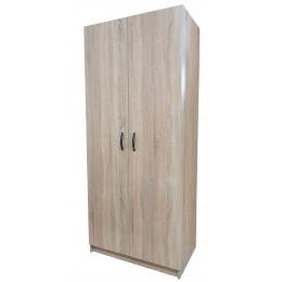 Шкаф гостиничный комбинированный дуб сонома белый  1900*800*500  03