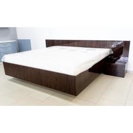 Кровать с тумбочками шпон венге