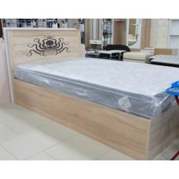 Боцман 1 Кровать 1200 с ПМ дуб сонома