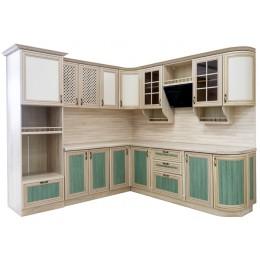 Кухня Кантри сонома эйч зеленая 2400*2550