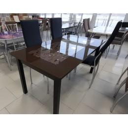 """Стол обеденный прямоугольный """"Ажурный-MAX"""" 1500*800 венге/шоколад"""