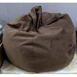 Купер Кресло-мешок XL велюр коричневый люкс